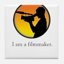 i am a filmmaker Tile Coaster