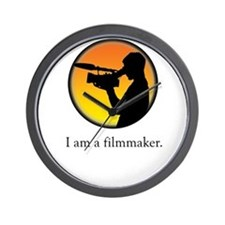 i am a filmmaker Wall Clock