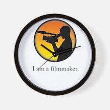 i am a filmmaker Wall Clock