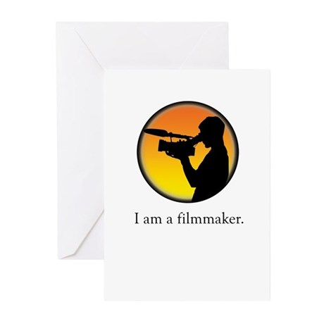 i am a filmmaker Greeting Cards (Pk of 10)