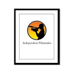 Indie filmmaker Framed Panel Print