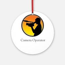 Camera operator Ornament (Round)