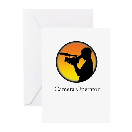 Camera operator Greeting Cards (Pk of 10)