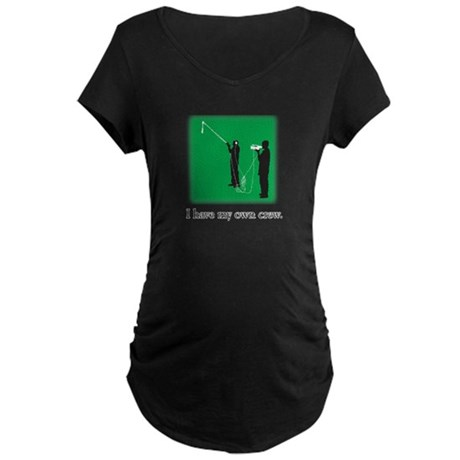 Have my own crew Maternity Dark T-Shirt