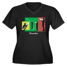 Filmmaker Women's Plus Size V-Neck Dark T-Shirt