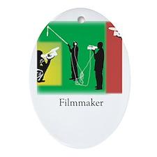 Filmmaker Oval Ornament
