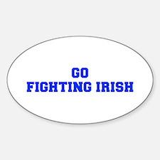 Fighting Irish-Fre blue Decal