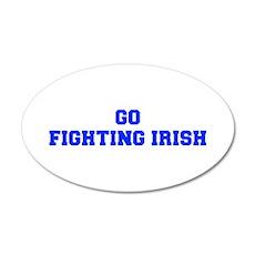 Fighting Irish-Fre blue Wall Decal