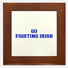 Fighting Irish-Fre blue Framed Tile