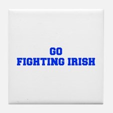 Fighting Irish-Fre blue Tile Coaster