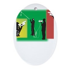 Plain Video Oval Ornament