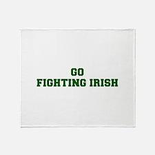 Fighting Irish-Fre dgreen Throw Blanket