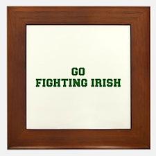 Fighting Irish-Fre dgreen Framed Tile