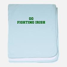 Fighting Irish-Fre dgreen baby blanket