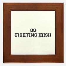 FIGHTING IRISH-Fre gray Framed Tile