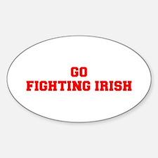 FIGHTING IRISH-Fre red Decal