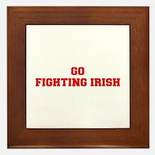 FIGHTING IRISH-Fre red Framed Tile