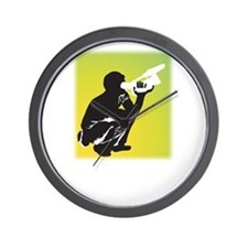 Kneeling Videographer Wall Clock