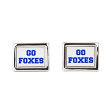 Foxes-Fre blue Rectangular Cufflinks