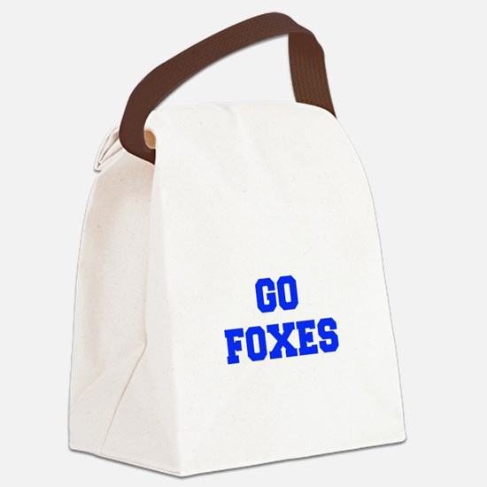 Foxes-Fre blue Canvas Lunch Bag