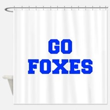 Foxes-Fre blue Shower Curtain