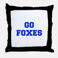 Foxes-Fre blue Throw Pillow