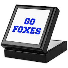Foxes-Fre blue Keepsake Box