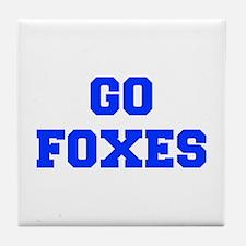 Foxes-Fre blue Tile Coaster