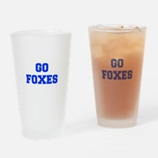 Foxes-Fre blue Drinking Glass