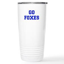 Foxes-Fre blue Travel Mug