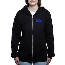 Foxes-Fre blue Women's Zip Hoodie