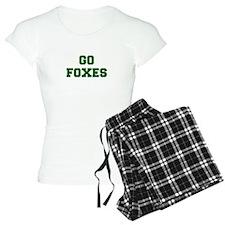 Foxes-Fre dgreen Pajamas