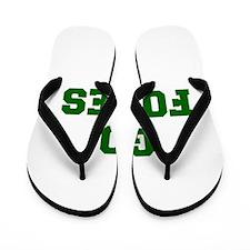 Foxes-Fre dgreen Flip Flops