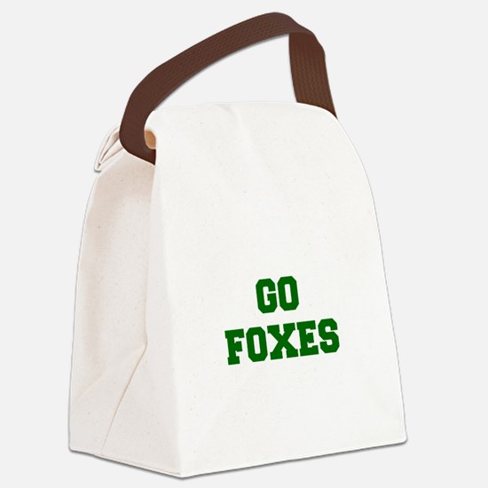 Foxes-Fre dgreen Canvas Lunch Bag