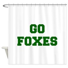Foxes-Fre dgreen Shower Curtain