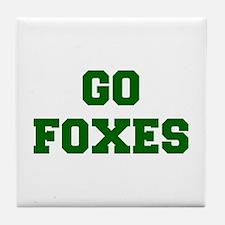 Foxes-Fre dgreen Tile Coaster