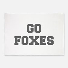 FOXES-Fre gray 5'x7'Area Rug