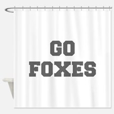 FOXES-Fre gray Shower Curtain