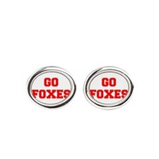 FOXES-Fre red Oval Cufflinks