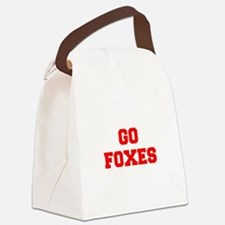 FOXES-Fre red Canvas Lunch Bag