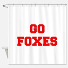 FOXES-Fre red Shower Curtain