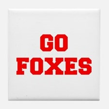 FOXES-Fre red Tile Coaster