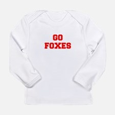 FOXES-Fre red Long Sleeve T-Shirt