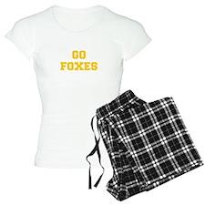 Foxes-Fre yellow gold Pajamas