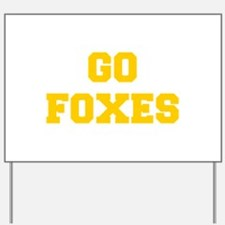 Foxes-Fre yellow gold Yard Sign