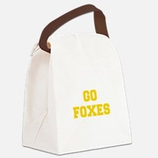 Foxes-Fre yellow gold Canvas Lunch Bag