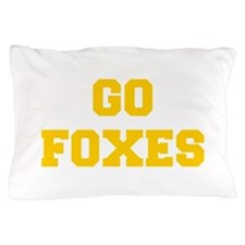 Foxes-Fre yellow gold Pillow Case
