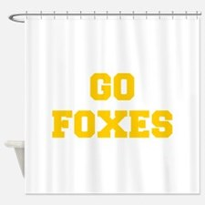 Foxes-Fre yellow gold Shower Curtain
