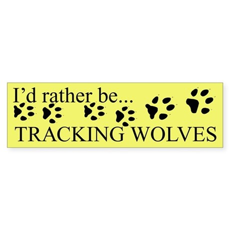 Tracking Wolves Bumper Sticker