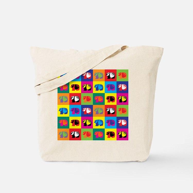 Pop Art Panda Tote Bag